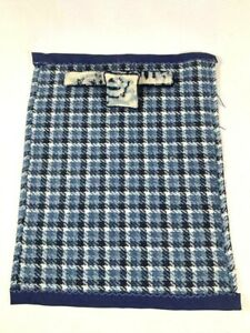 1:12 Scale VINTAGE MINIATURE Blue Hand Made Blanket Bolster Pillow Needlepoint