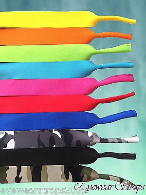 NEW Kids Childrens Boys Blue Camouflage Glasses Sunglasses Neoprene Strap Holder