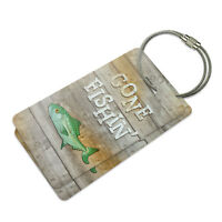 Gone Fishing Suitcase Bag Id Luggage Tag Set