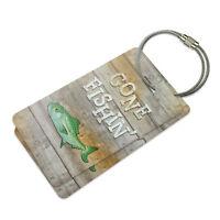 Gone Fishing Suitcase Bag Id Luggage Tag Set