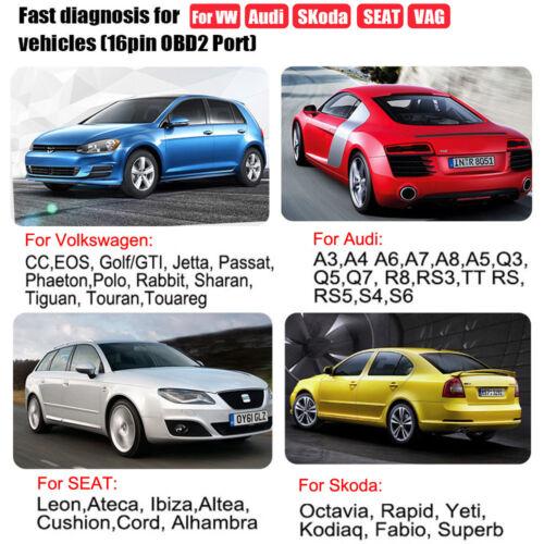 OBDII Scanner For VW Audi Skoda Seat Engine ABS SRS Code Reader Diagnostic Tool
