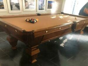 Antique-Brunswick-Victorian-Pool-Table-46-by-92