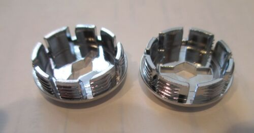Bicycle Bottom Bracket Crank Arm Dust Cover Caps Set of 2 Chrome or Black