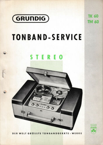 Tm 60 Service Manual for Grundig TK 60