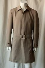 GIANFRANCO FERRE Mens Trench Coat Mac Jacket Dark Khaki Taupe 48 R