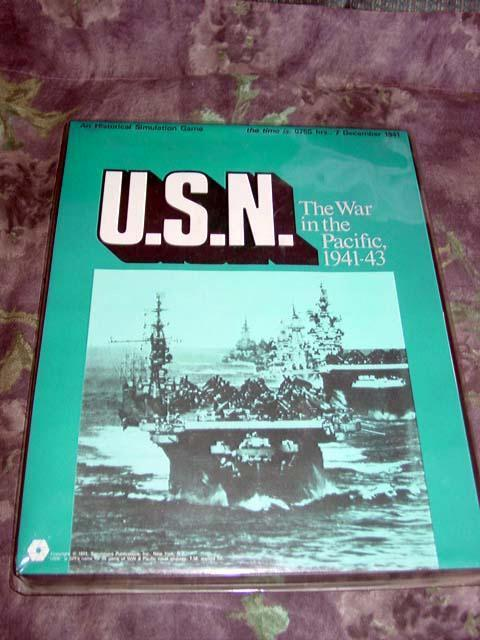 (SPI) 1971 - U.S.N. - US Navy - The War in Pacific 1941 -43 - (UNPUNCED)