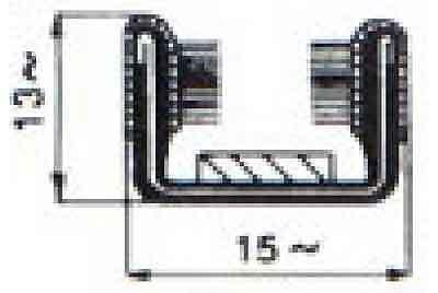 FIAT 500 ROTOLO DA 10mt CANALINO VETRI SINGOLO 13X15 mm ARMATO COD.11//1