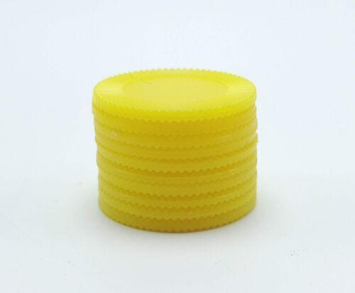 Yahtzee 10 Bonus Chips Replacement Game Part Piece Plastic Yellow 1998