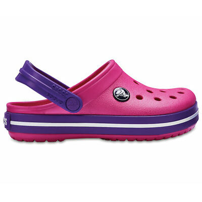 NEW Genuine Crocs Kids - Girls Crocband Clog Paradise Pink/Amethyst - Australia