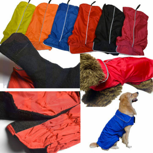 Impermeable impermeable para perros - Chaqueta impermeable para exteriores Chaqueta de abrigo Fleece Reflective Safe