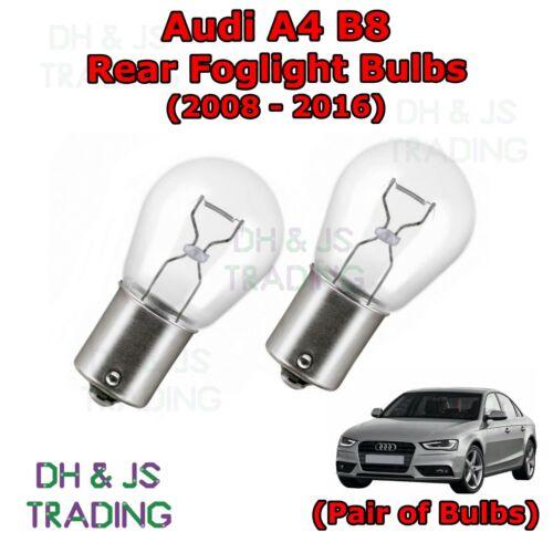 Bulb Light Lights Fog 382 12v 21w 08-16 Audi A4 B8 Rear Foglight Bulbs