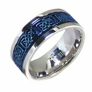 Sensible Man Stainless Steel Chain Spinner Ring Two Tone Wedding Band Rings