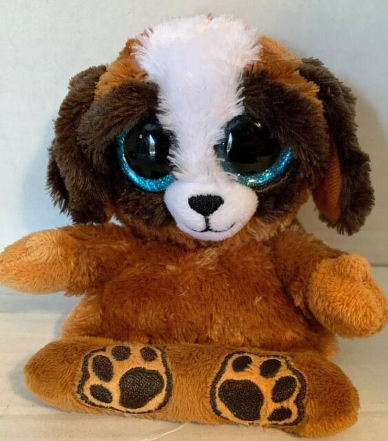 "4/""inch Phone Holder w//Cleaner TY Beanie Boos PEEK-A-BOOS PUP THE DOG"