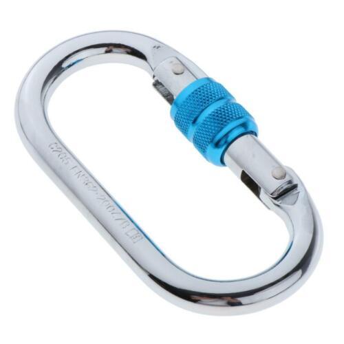 25KN Screw Locking Carabiner O-Ring Buckles Mountaineering Rock Climbing Hooks