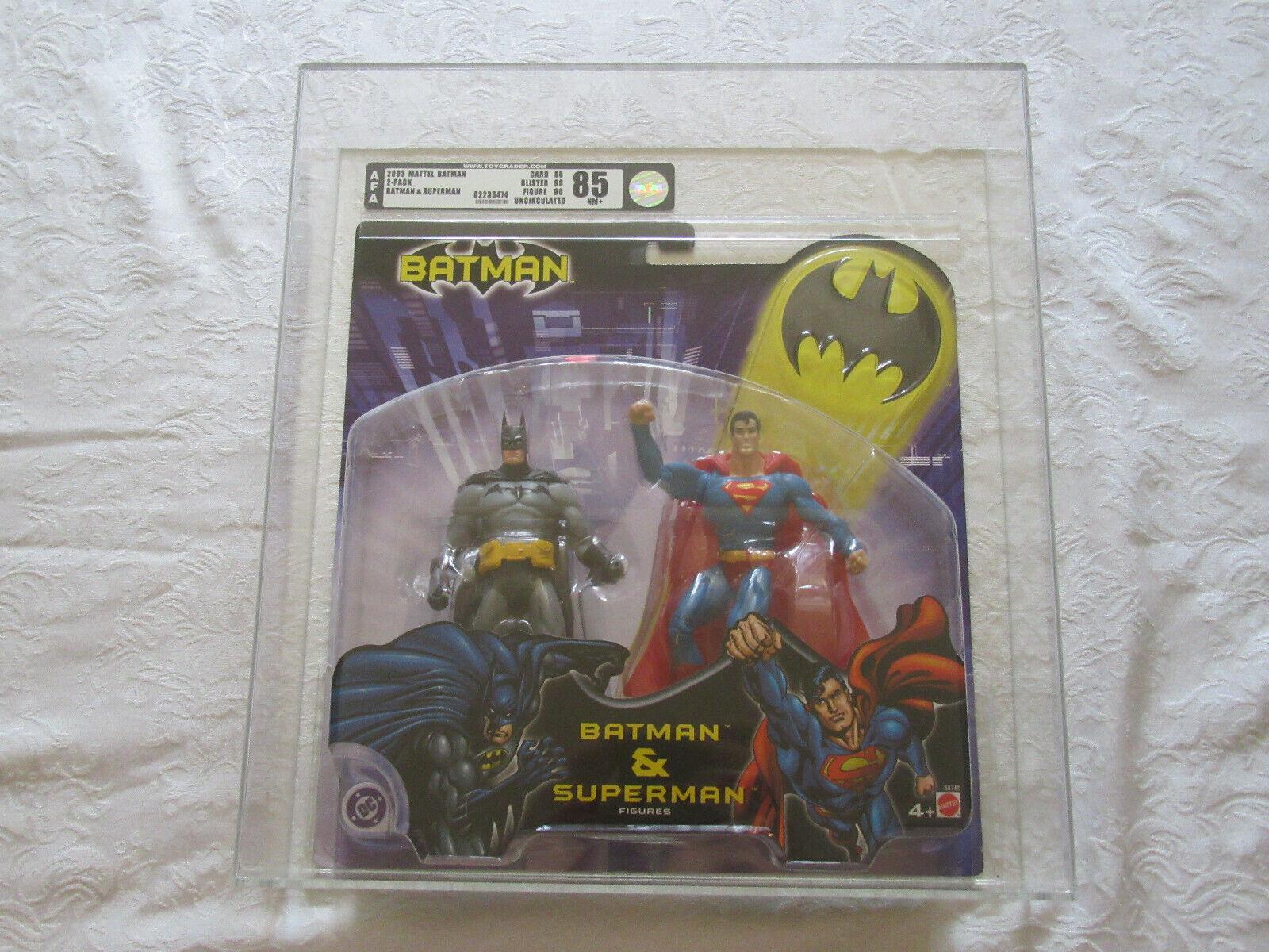Mattel AFA Graded 85 2003 Batman.......Superman 2-pakke ubestridte handlingstal