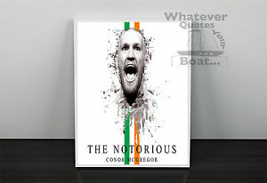 All Sizes Conor Mcgregor Poster Irish UFC Fighter Picture Print Wall Art