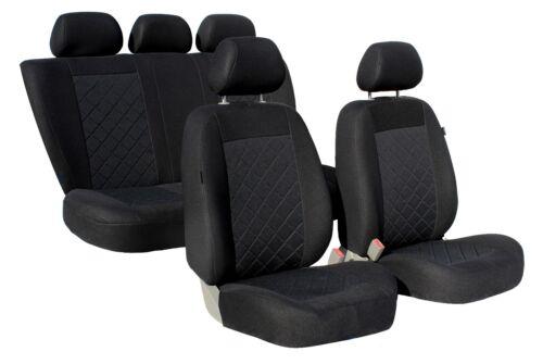 KARO Komplettset Universal Autositzbezüge Sitzbezüge Schonbezüge schwarz Ford