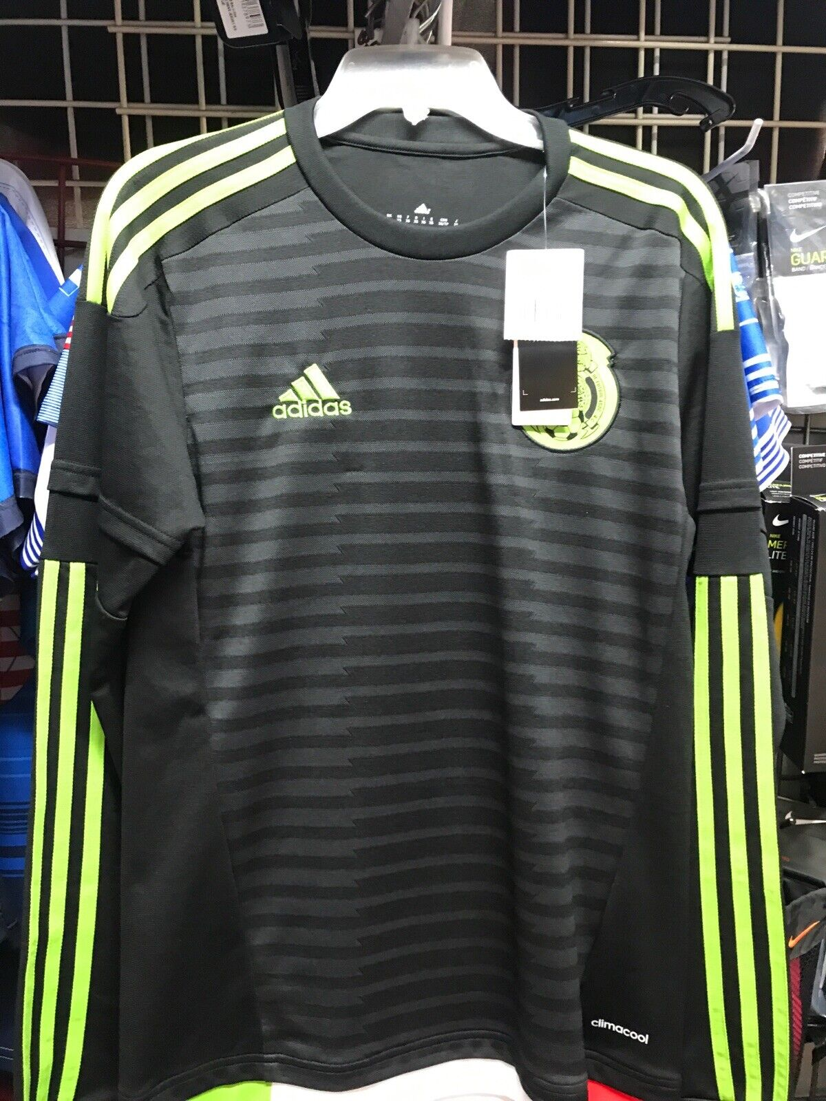 adidas Mexico Home Black Green Jersey Long Sleeve 2016 Size XS ...