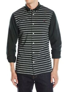 64088fd5 Fred Perry Men's Pique Stripe Oxford Long Sleeve Shirt - British ...