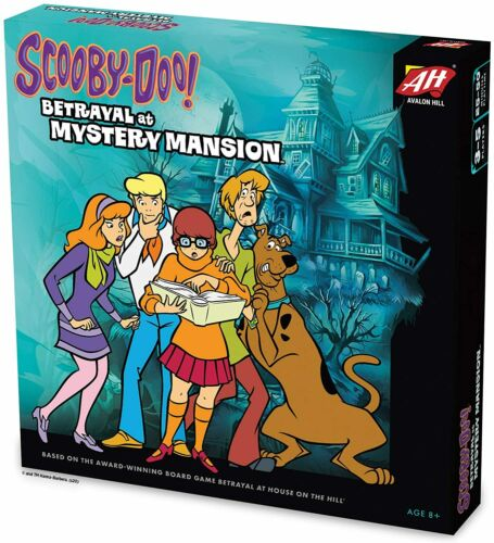 Avalon Hill Scooby Doo in Betrayal at Mystery Mansion Board Game New 2020 Toy