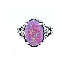 c130860f3df6d Details about Sahara Oval Shape Lab Created Fire Purple Opal Ring - Ginger  Lyne Collection