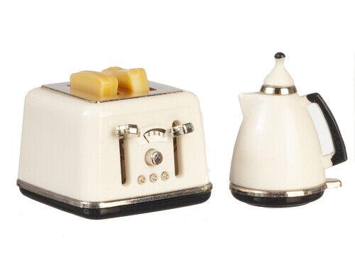 accessori da cucina in miniatura Dolls House Tostapane e caffettiera