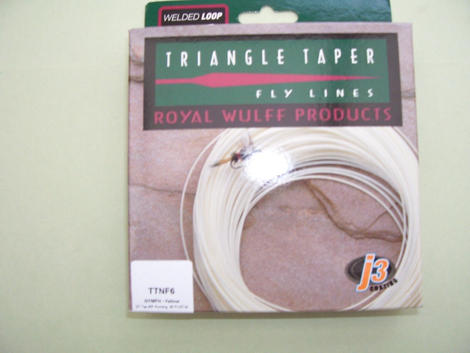 Lee Wulff Fly Line Nymph Triangle Taperot Floating Gelb Forward 4, 5, 6 or 7wt