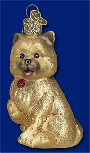 CAIRN-TERRIER-OLD-WORLD-CHRISTMAS-BLOWN-GLASS-DOG-PUPPY-BREED-ORNAMENT-NWT-12376