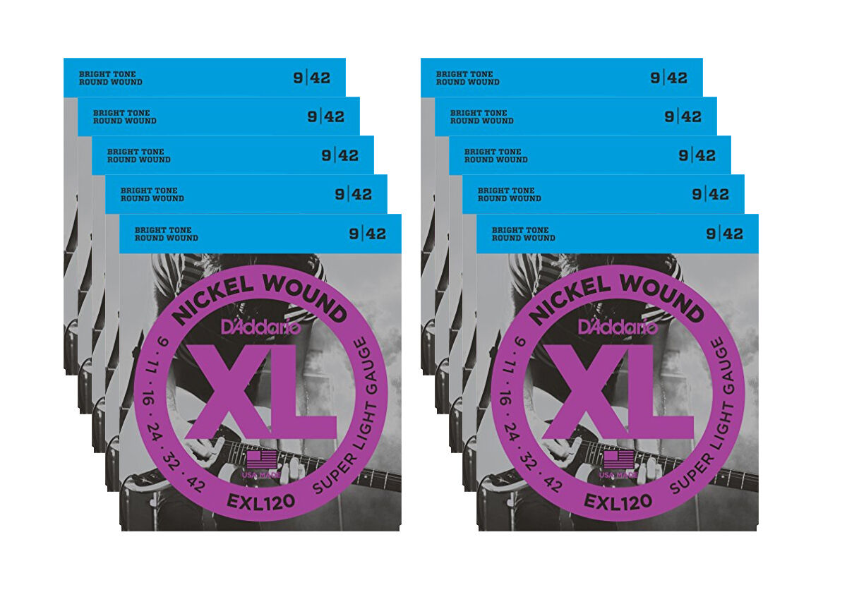 D'ADDARIO 10 EXL120 - Set da 10 Mute Super Light (009-042)