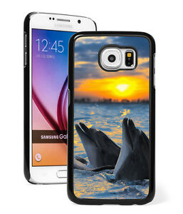 For-Samsung-Galaxy-S9-S8-S7-S6-Edge-Note-Active-Hard-Case-551-Dolphins-Sunset