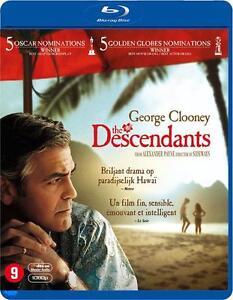 BLU RAY THE DESCENDANTS - George Clooney  - NIEUW NOUVEAU - 5 oscar nominaties