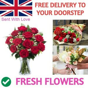 Fresh Real Flowers Delivered Uk Florist Choice Bouquet Free Flower Delivery Uk Ebay