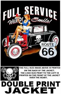 USA-ROUTE-66-SERVICE-WITH-SMILE-GIRL-HOT-STREET-RAT-ROD-COUPE-SKULL-JACKET-X88