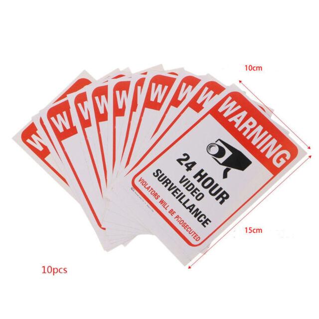 X3 alarm security property under surveillance 10cm sticker sticker