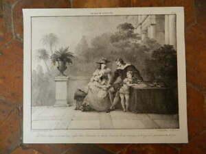 Lito De Villain Escena De Roman Gil Blas De Santillane De Gastel N º 20-1819