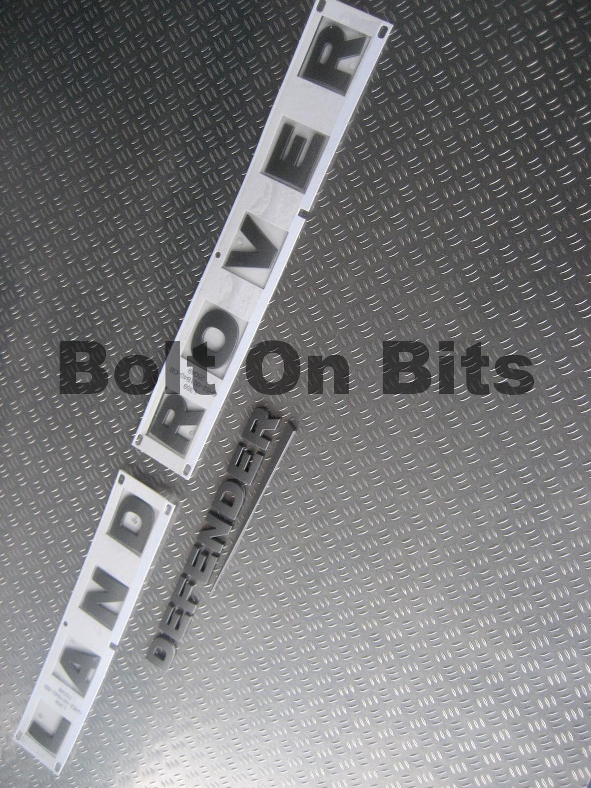 3d Schriftzug Landrover für Motorhaube & Heck Schutz mit Rauschen Kennzeichen