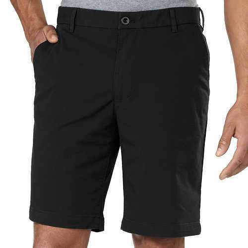 Nuovo Izod Uomo Performance Pantaloncini Con Ultraflex Cintura Nero