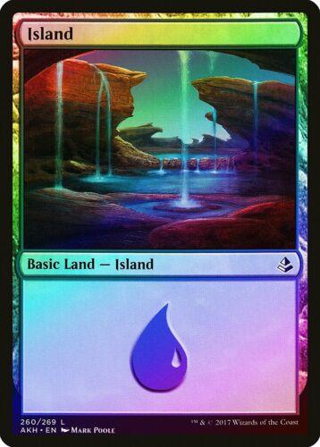 FOIL Amonkhet NM-M Basic Land MAGIC THE GATHERING MTG CARD ABUGames 260 Island
