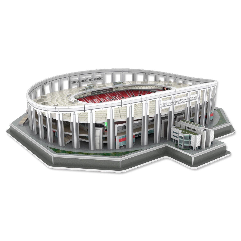 VfB Stuttgart Stadionpuzzle 3D Puzzle Mercedes Benz Arena Plus Lesezeichen Wir lieben Fu/ßball