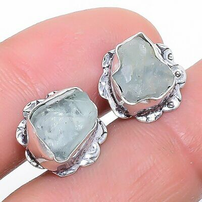 Fashion Jewelry Se4480 Self-Conscious Aquamarine Rough Druzy Gemstone Fashion Jewelry Earring Stnd