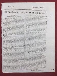 Pintor David 1791 El Juramento de La Juego Y Versailles Didot Astronomía París