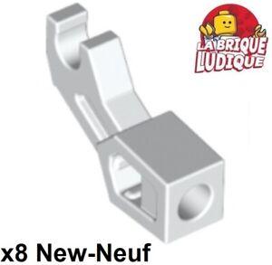 Lego-8x-bras-mecanique-Arm-Mechanical-robot-bionicle-blanc-white-98313-NEUF