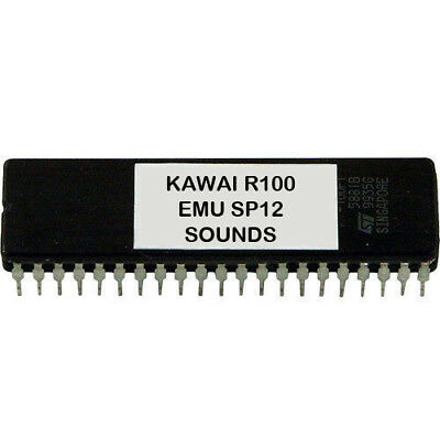 Kawai R100 R50 Emu SP12 SP-12 Sounds Eprom Vintage Drum Machine
