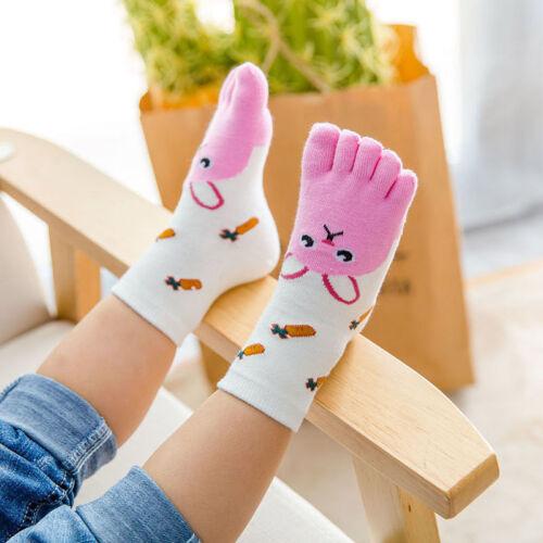 Toddler Baby Kids Girls Boys Cartoon Animal Five Fingers Sock Hosiery Toe Socks