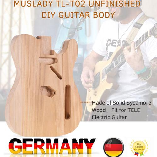 Muslady E-Gitarren körper Korpus Platane Holz für TELE Style E-Gitarren DIY