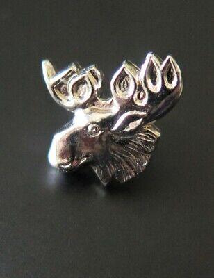 Silver Toned Moose Head Tie Clip