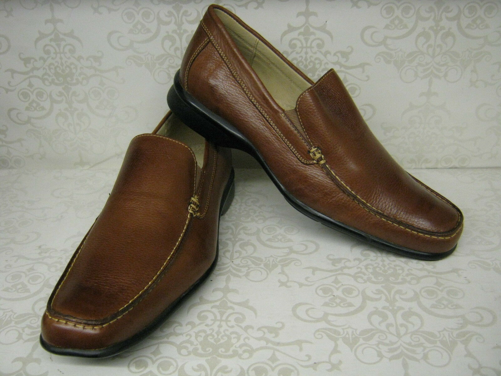 Mens Anatomic & Co Canudos 323240 Cognac Or Black Leather Slip On Moccasin Shoes