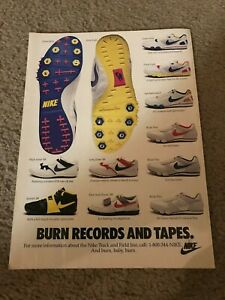 1980s NIKE Shoes Poster Print Ad ZOOM ULTRA LIGHT INTERNATIONALIST RIVAL PLUS