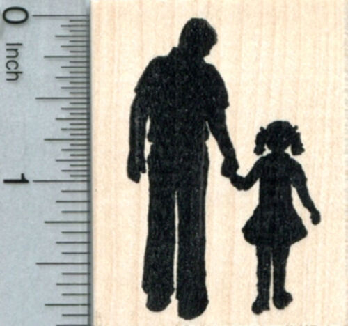 Father and Daughter Rubber Stamp Father/'s Day Family Life G32507 WM