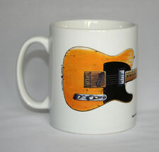 Guitar Mug. Keith Richards' Fender Telecaster Micawber Guitar Illustration.